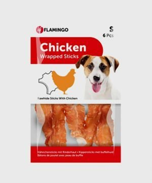 Karlie Flamingo - Chicken Wrapped Rawhide Sticks - S