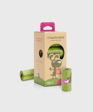 Earth Rated - 120 Poo Bags on 8 Refill Rolls