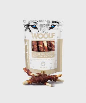 Woolf Treats - Chicken and Rawhide Twister