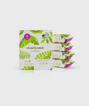 Earth Rated - 100 Compostable Grooming Wipes (Copy)