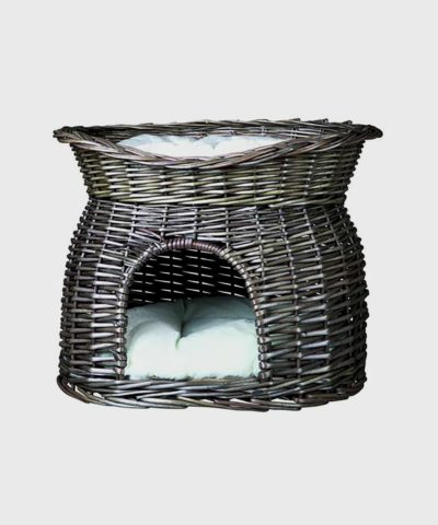 Trixie Wicker Pet Cave with Dog Bed on Top