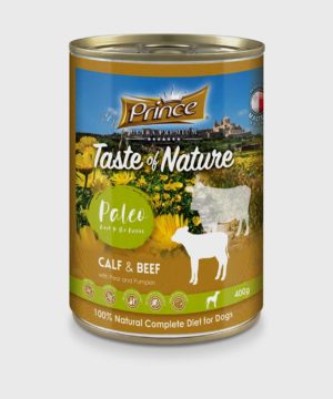 Prince Premium Cans Calf & Beef Wet Dog Food