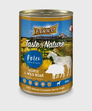 Prince Premium Cans Horse & Wild Boar Wet Dog Food