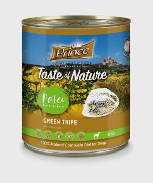 Prince Premium Cans Green Tripe & Salmon Oil Wet Dog Food