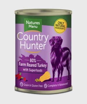 Country Hunter Cans Turkey 400g Wet Dog Food