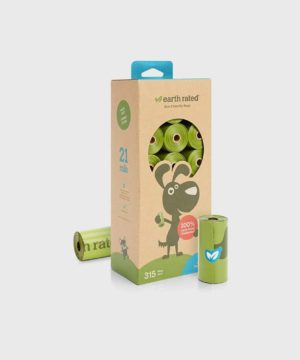 Earth Rated 315 Poo Bags on 21 Refill Rolls