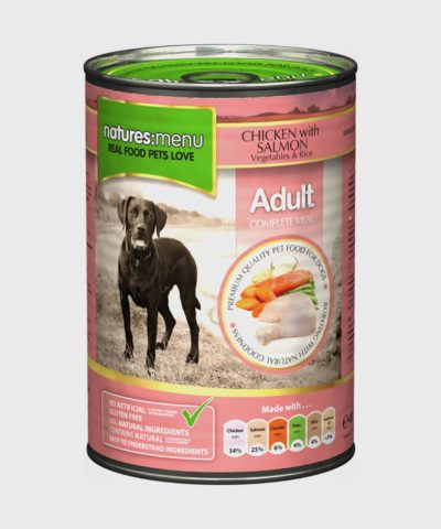 Natures Menu Cans Salmon with Chicken Wet Dog Food