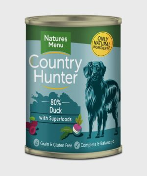Country Hunter Cans Duck 400g Wet Dog Food