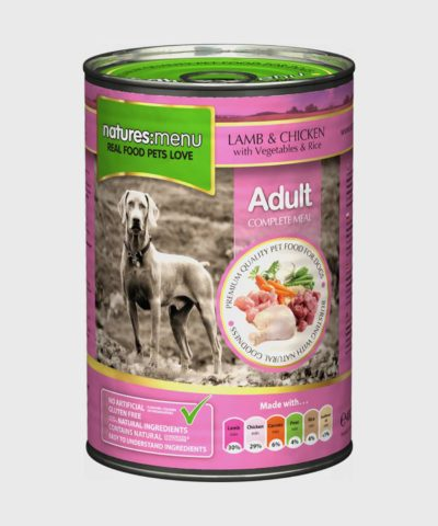 Natures Menu Cans Lamb with Chicken Wet Dog Food