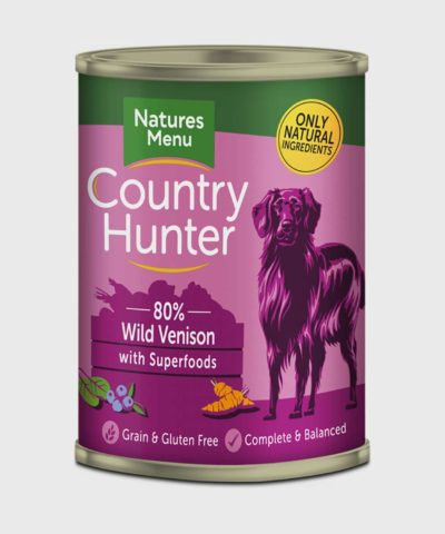 Country Hunter Cans Wild Venison 400g Wet Dog Food