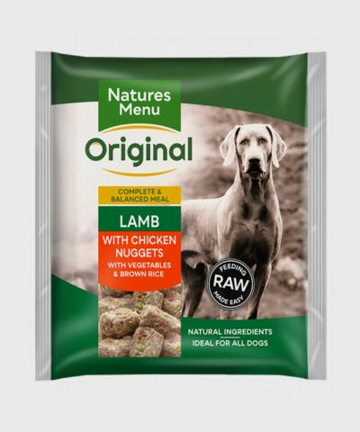 Natures Menu Meals Lamb with Chicken Nuggets Raw Dog Food