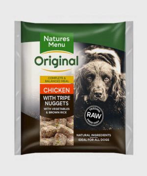 Natures Menu Meals Chicken with Tripe Nuggets Raw Dog Food