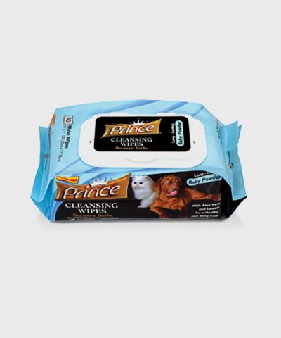 Prince Cleansing Dog Wipes Baby Powder