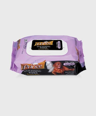 Prince Cleansing Dog Wipes Lavender
