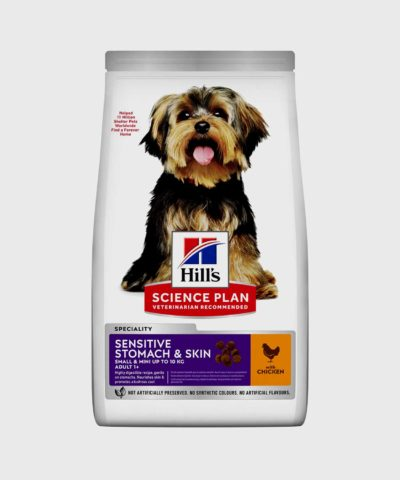 Hill's Science Plan   Sensitive Stomach & Skin Small & Mini Adult Dog Food with Chicken