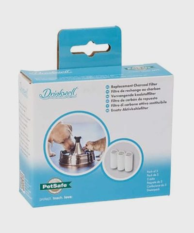 PetSafe | Drinkwell Replacement Premium Carbon Filters for the 360 Plastic or Stainless Steel Multi-Pet Dog and Cat Water Fountains (3-Pack)
